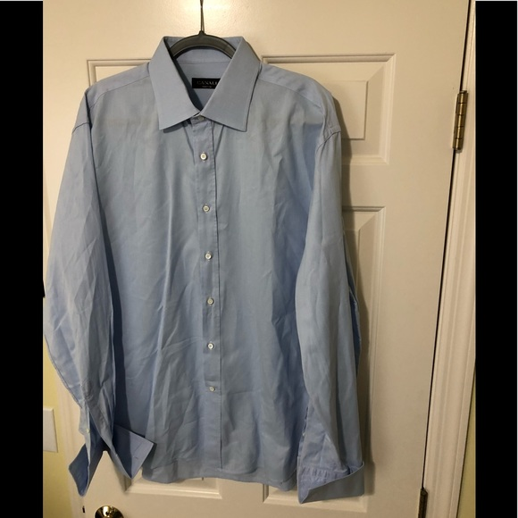Canali Other - Canali Designer dress light blue shirt 46/18 XL